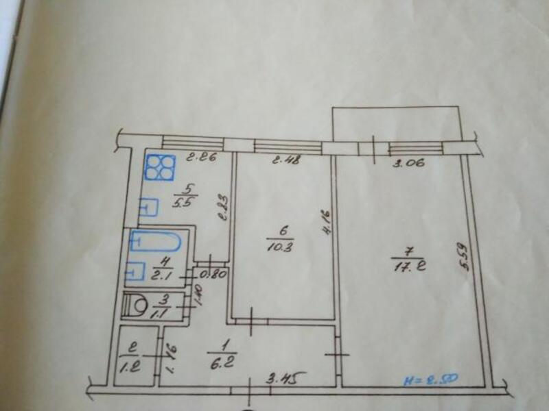 2 комнатная квартира, Харьков, Салтовка, Героев Труда (471780 1)