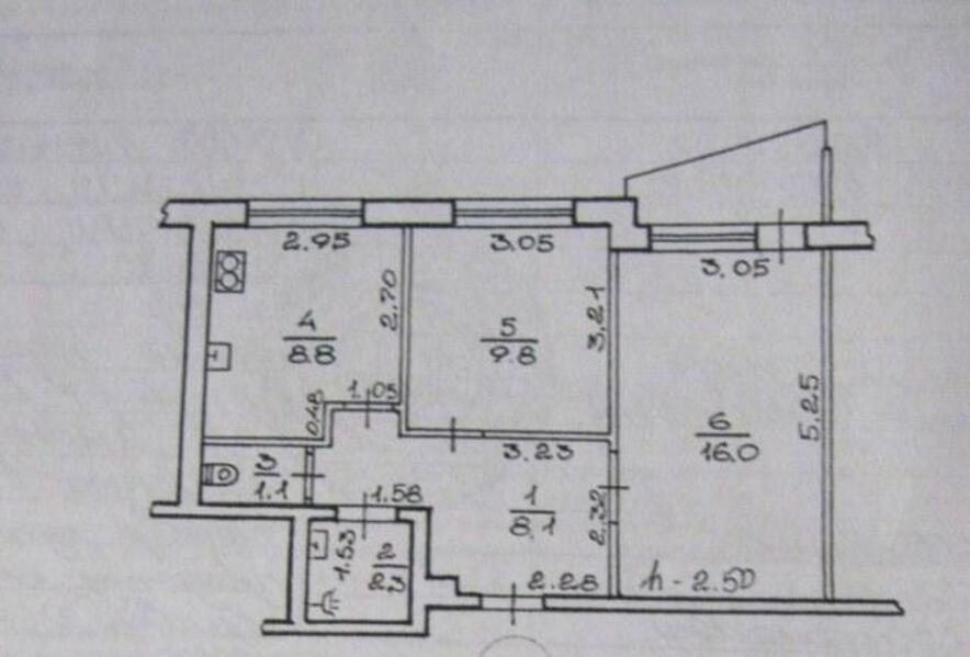 2 комнатная квартира, Харьков, Салтовка, Салтовское шоссе (471952 1)