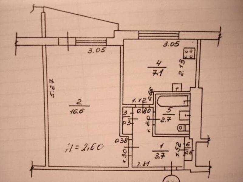 1 комнатная квартира, Харьков, Северная Салтовка, Гвардейцев Широнинцев (472123 1)