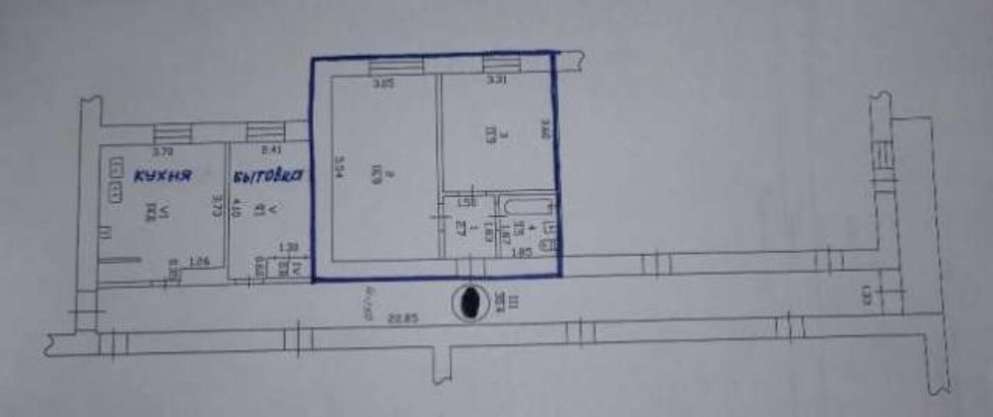 2 комнатная гостинка, Харьков, Бавария, Ново Баварский пр. (Ильича пр.) (472609 2)
