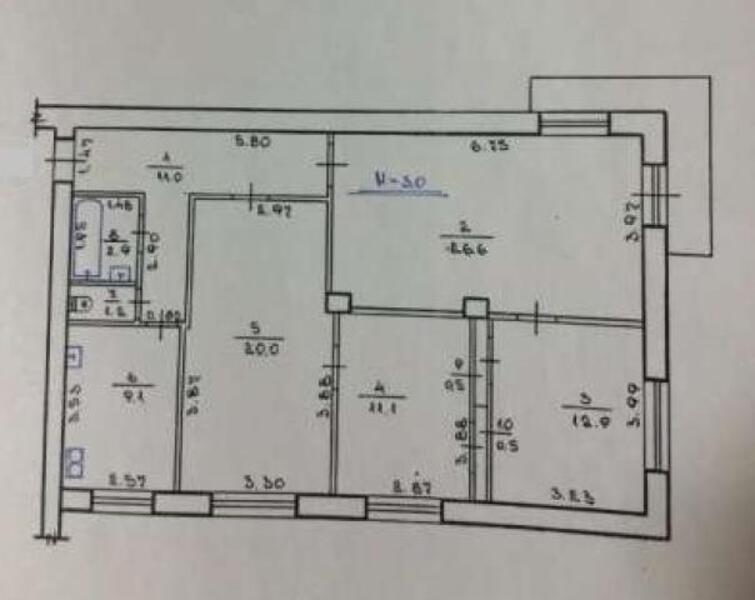 3 комнатная квартира, Харьков, Салтовка, Барабашова (476216 1)