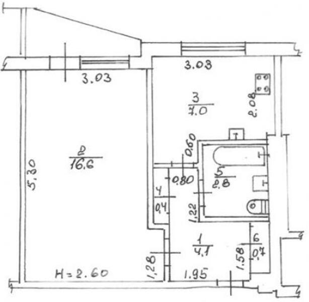 1 комнатная квартира, Харьков, Салтовка, Владислава Зубенко (Тимуровцев) (477827 1)