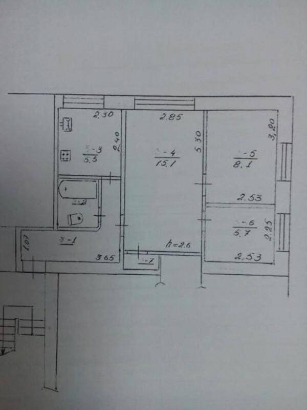 3 комнатная квартира, Черкасская Лозовая, Степная, Харьковская область (477852 1)