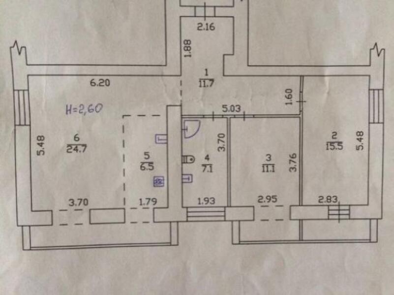 2 комнатная квартира, Харьков, Алексеевка, Победы пр. (478617 2)