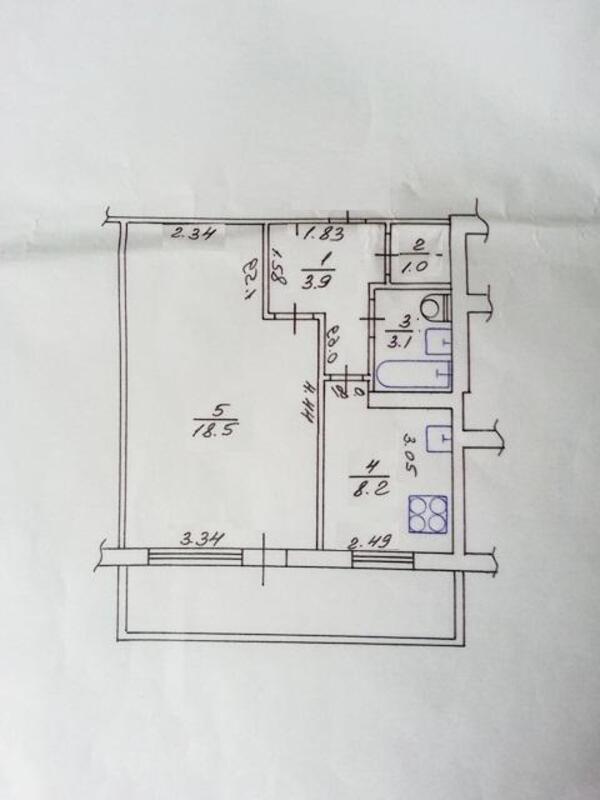 2 комнатная квартира, Харьков, ХТЗ, Александровский пр. (Косиора пр.) (478643 1)