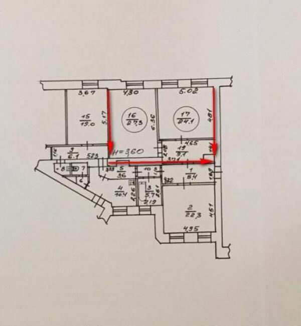 2 комнатная гостинка, Харьков, Павлово Поле, Науки проспект (Ленина проспект) (478736 3)