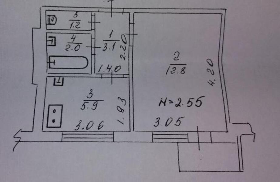 2 комнатная квартира, Харьков, ХТЗ, Индустриальный просп. (Фрунзе проспект) (478801 1)