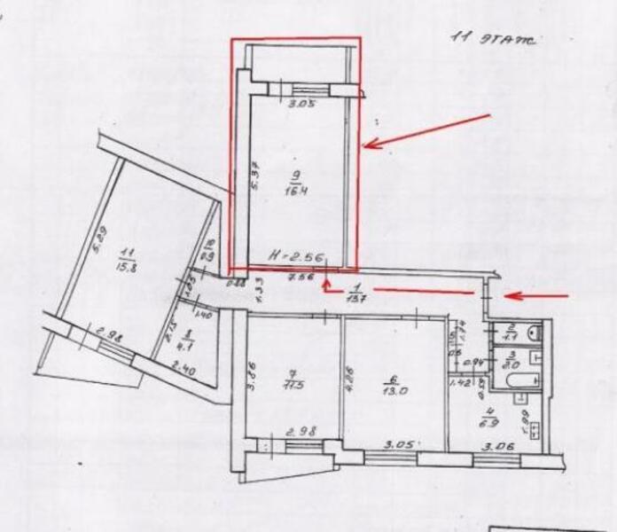 1 комнатная гостинка, Харьков, Алексеевка, Победы пр. (478837 1)
