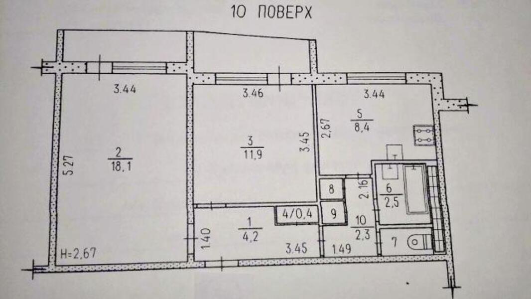2 комнатная квартира, Харьков, Алексеевка, Людвига Свободы пр. (479760 1)