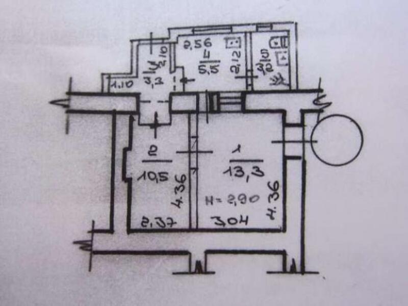 1 комнатная квартира, Харьков, ПЯТИХАТКИ, Академика Вальтера (480057 1)