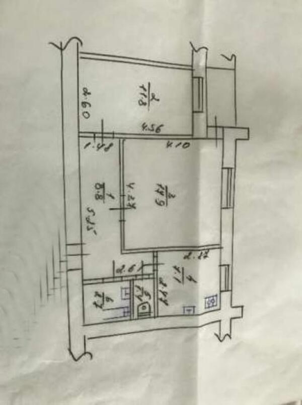 2 комнатная квартира, Харьков, НАГОРНЫЙ, Студенческая (480063 1)