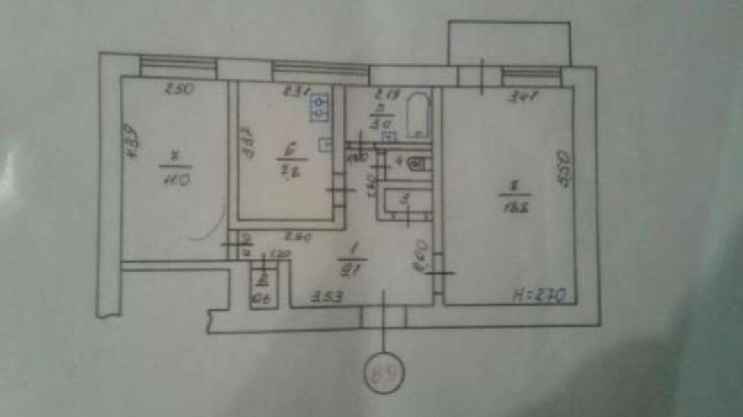 2 комнатная квартира, Харьков, Павлово Поле, Науки проспект (Ленина проспект) (480318 1)