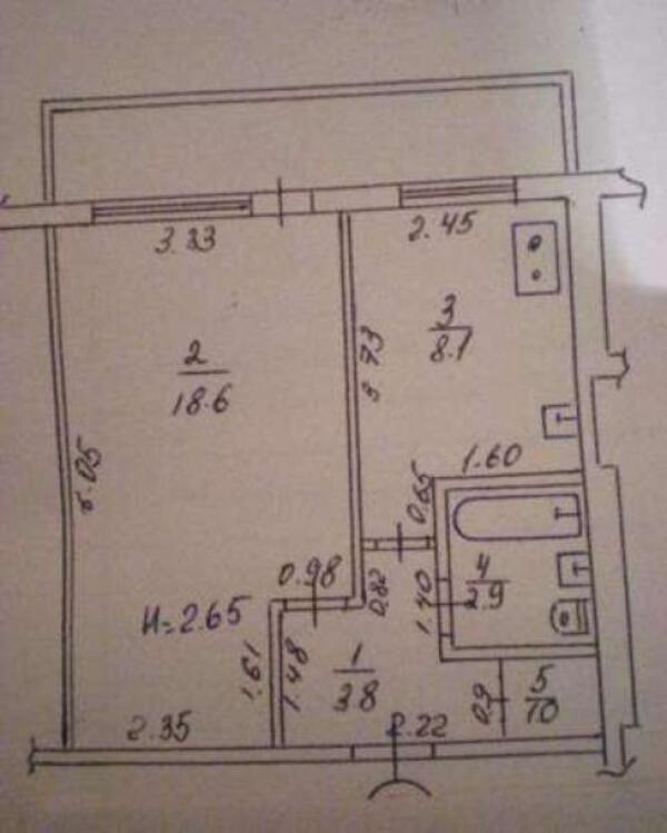 1 комнатная квартира, Харьков, Новые Дома, Танкопия (480336 1)