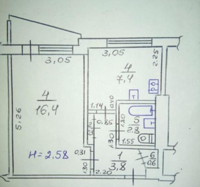 2 комнатная квартира, Харьков, ХТЗ, Александровский пр. (Косиора пр.) (480473 1)