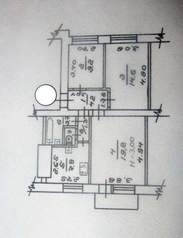 2 комнатная квартира, Харьков, НАГОРНЫЙ, Студенческая (480917 1)