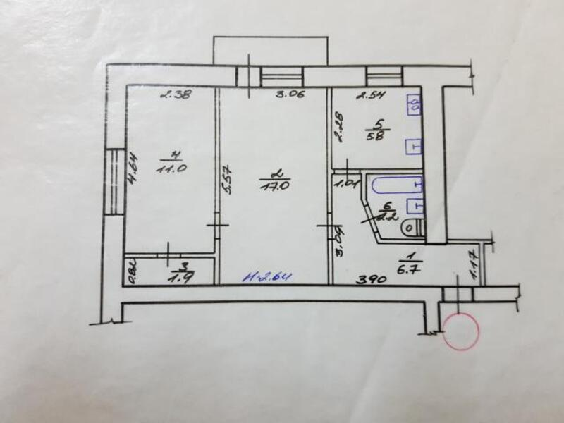 2 комнатная квартира, Харьков, Павлово Поле, 23 Августа (Папанина) (481209 1)