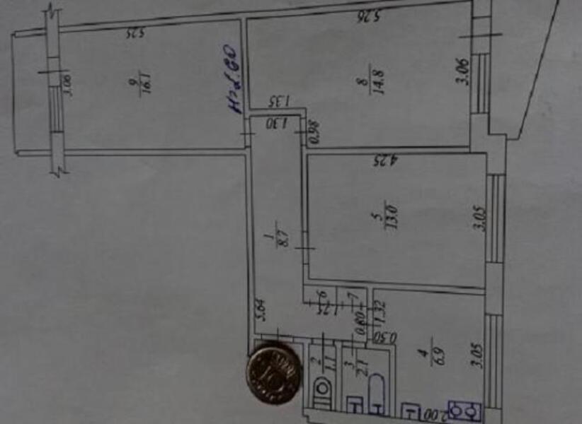 3 комнатная квартира, Харьков, ШАТИЛОВКА, Науки проспект (Ленина проспект) (481934 1)