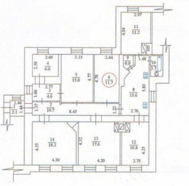 1 комнатная гостинка, Харьков, Холодная Гора, Петра Болбочана (Клапцова) (483135 1)