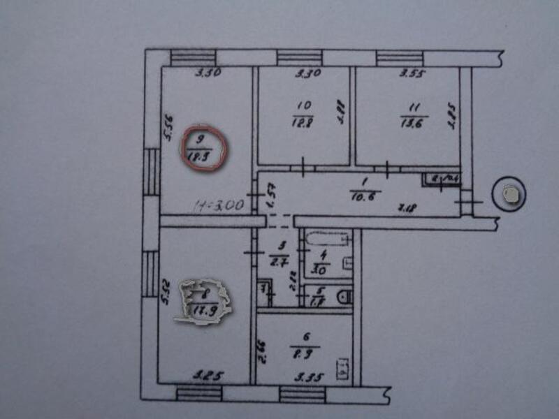 2 комнатная гостинка, Харьков, Холодная Гора, Григоровское шоссе (Комсомольское шоссе) (483731 1)