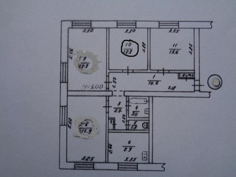 2 комнатная гостинка, Харьков, Холодная Гора, Григоровское шоссе (Комсомольское шоссе) (483735 1)