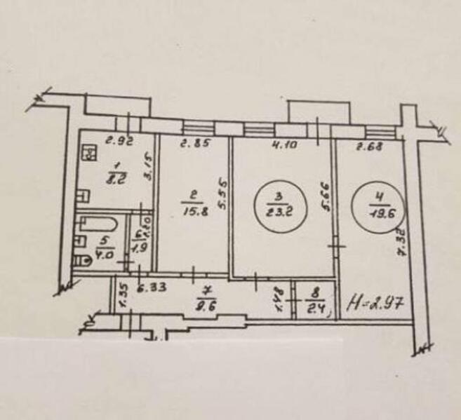 3 комнатная квартира, Харьков, Северная Салтовка, Кричевского (484287 1)