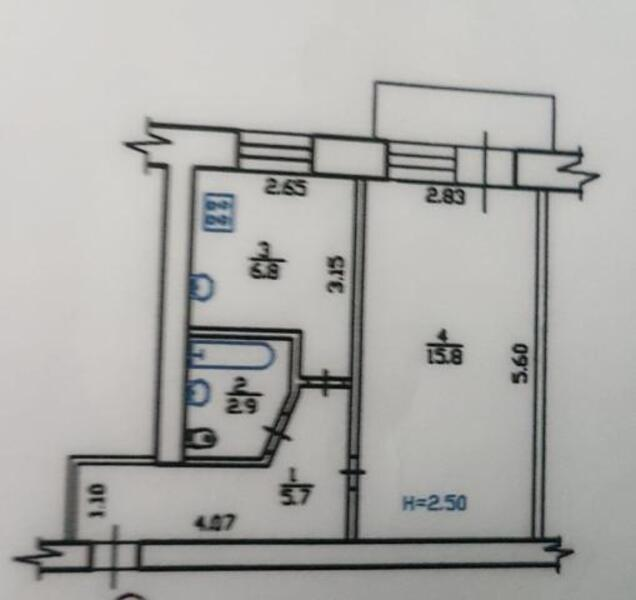1 комнатная квартира, Харьков, Восточный, Роганская (484610 1)