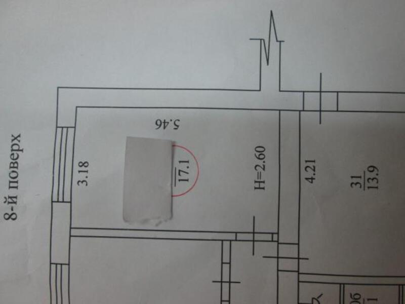 1 комнатная гостинка, Харьков, НАГОРНЫЙ, Мироносицкая (484984 1)