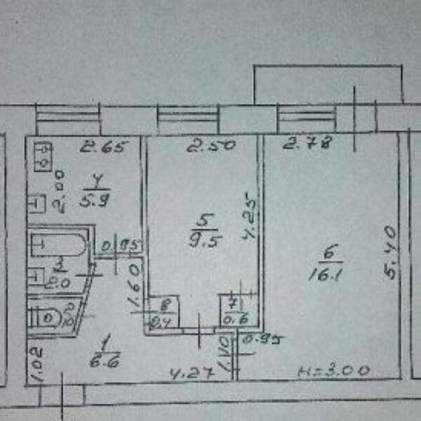 2 комнатная квартира, Харьков, Павлово Поле, 23 Августа (Папанина) (485788 1)