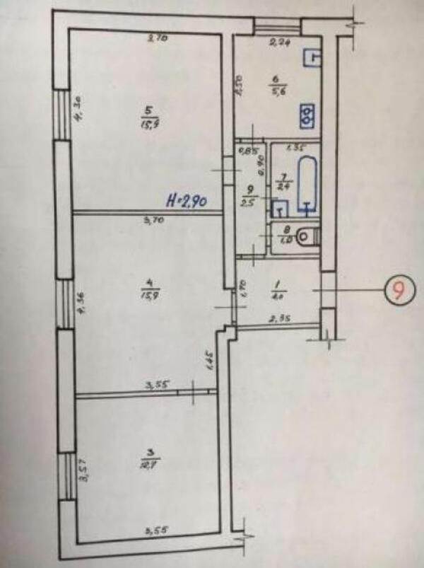 3 комнатная квартира, Харьков, Салтовка, Академика Павлова (487488 1)