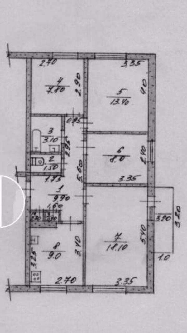 3 комнатная квартира, Солоницевка, Богдана Хмельницкого, Харьковская область (488234 1)