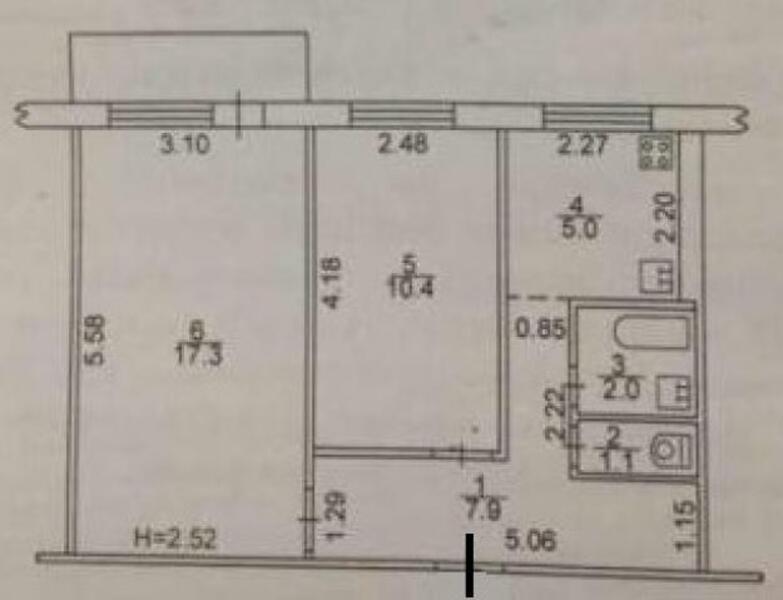 2 комнатная квартира, Харьков, Салтовка, Гвардейцев Широнинцев (488966 2)