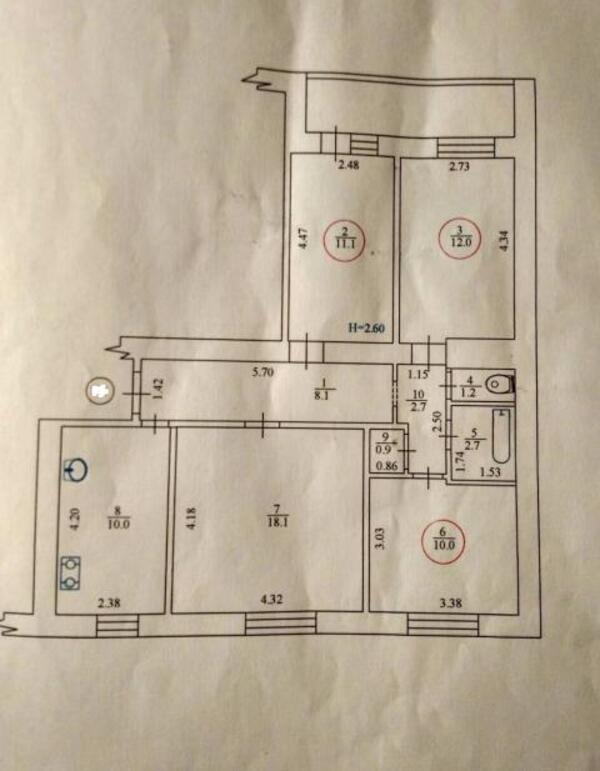 1 комнатная гостинка, Харьков, Гагарина метро, Молчановский в зд (489016 1)