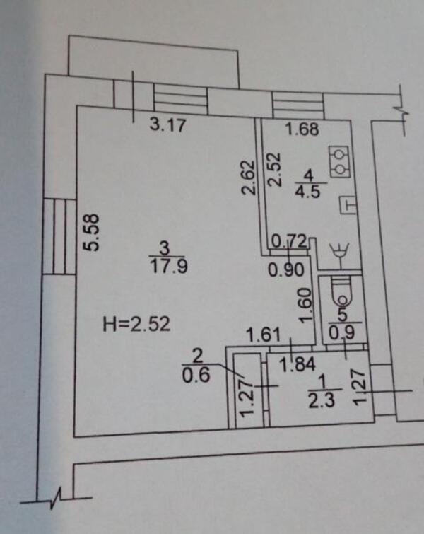 1 комнатная квартира, Харьков, Южный Вокзал, Большая Панасовская (Котлова) (489078 1)