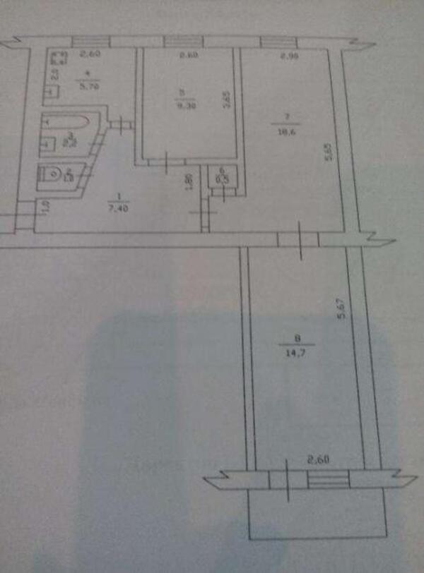 2 комнатная квартира, Харьков, Гагарина метро, Гимназическая наб. (Красношкольная набережная) (489273 2)