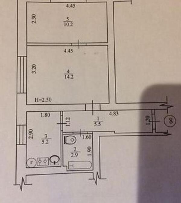1 комнатная квартира, Харьков, ОСНОВА, Достоевского (489808 1)