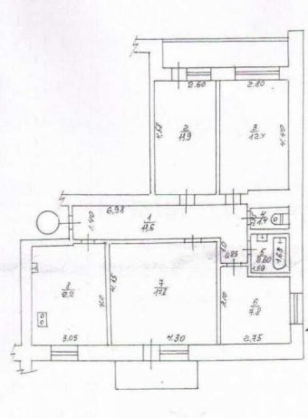 4 комнатная квартира, Харьков, Спортивная метро, Плехановская (489936 1)