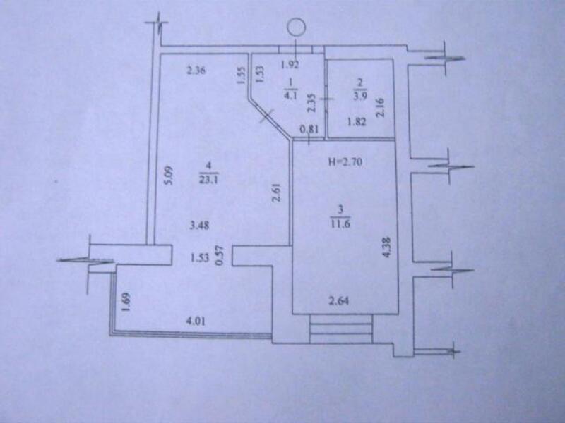 2 комнатная квартира, Харьков, Павлово Поле, 23 Августа (Папанина) (490118 1)
