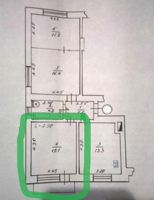 1 комнатная гостинка, Харьков, ХТЗ, Ростовская (490482 1)