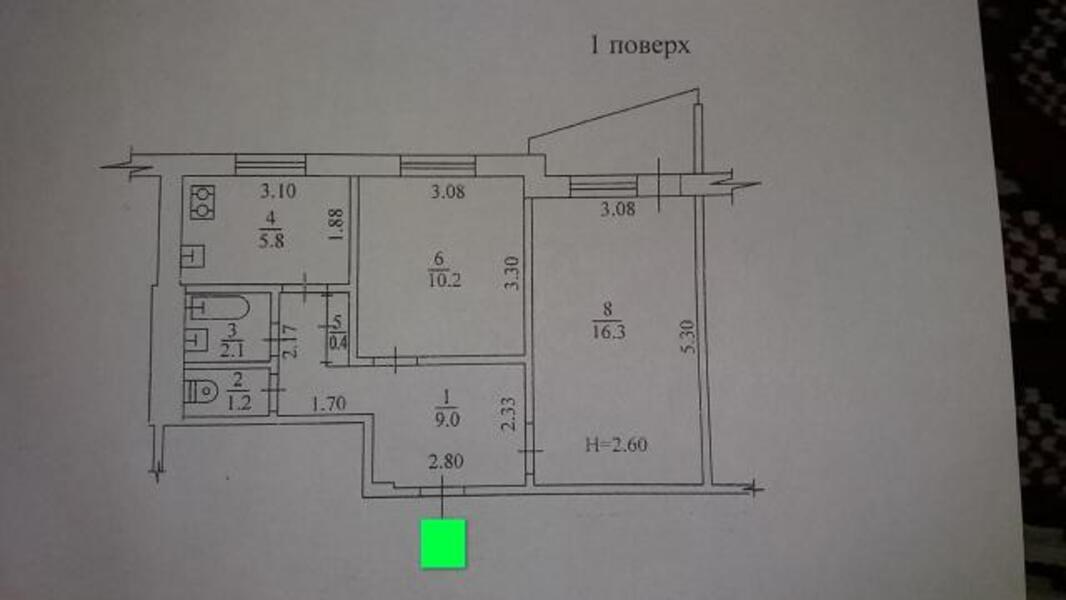3 комнатная квартира, Харьков, Павлово Поле, 23 Августа (Папанина) (491710 1)