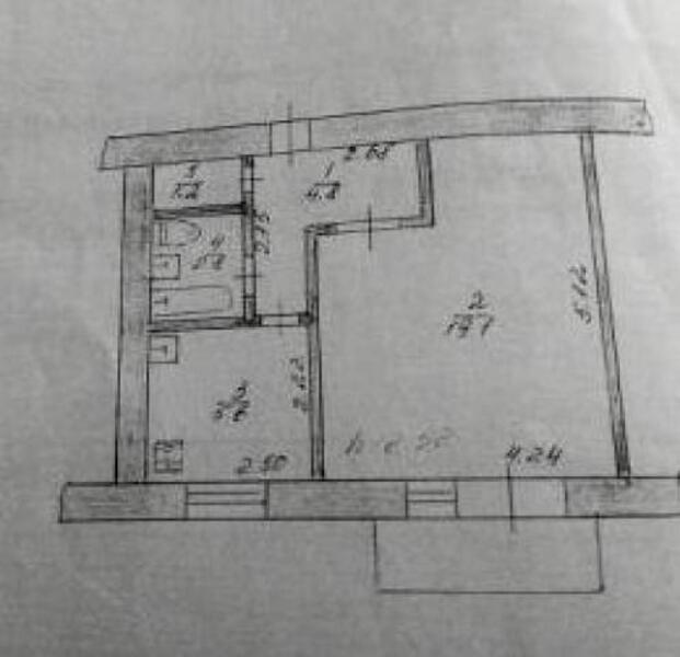 Квартира, 1-комн., Балаклея, Балаклейский район, Вишневая (Чапаева, Комсомольская,К.Маркса)
