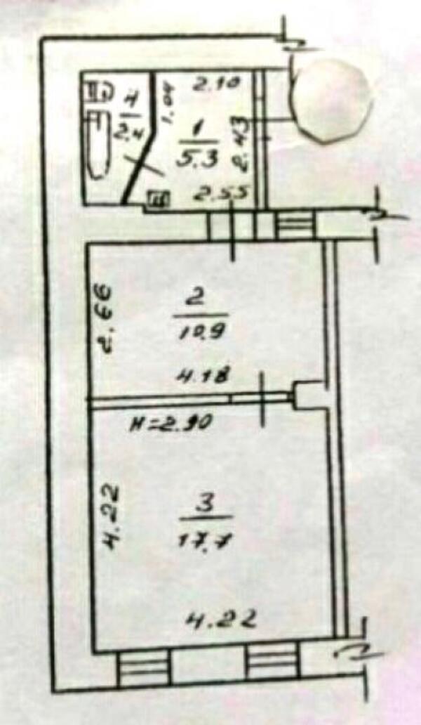 1 комнатная квартира, Харьков, ОДЕССКАЯ, Забайкальский пер. (492611 1)