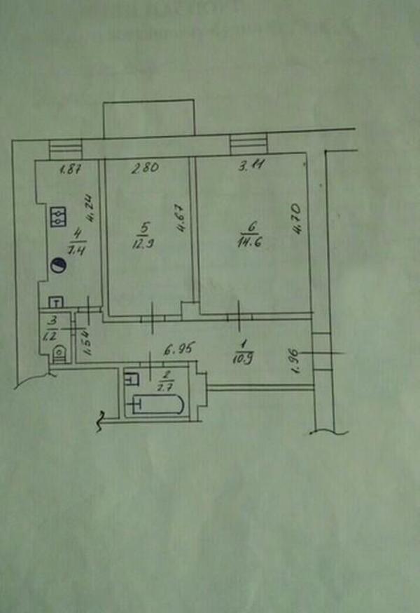 2 комнатная квартира, Харьков, Спортивная метро, Оренбургская (492791 1)
