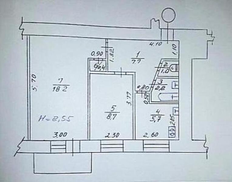 2 комнатная квартира, Харьков, НОВОЖАНОВО, Власенко (493158 2)