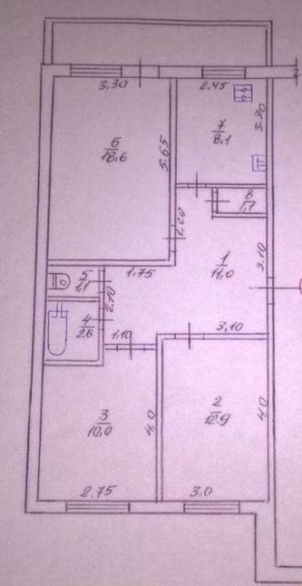 2 комнатная квартира, Харьков, Салтовка, Светлая (Воровского, Советская, Постышева, ленина. 50 лет Октября) (493412 1)