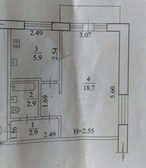 1 комнатная квартира, Харьков, Новые Дома, Маршала Рыбалко (493420 1)