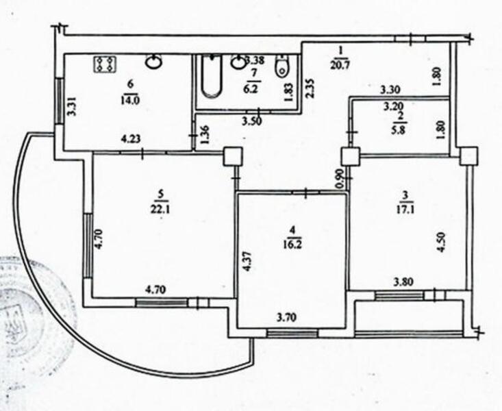 3 комнатная квартира, Харьков, Северная Салтовка, Кричевского (493447 1)