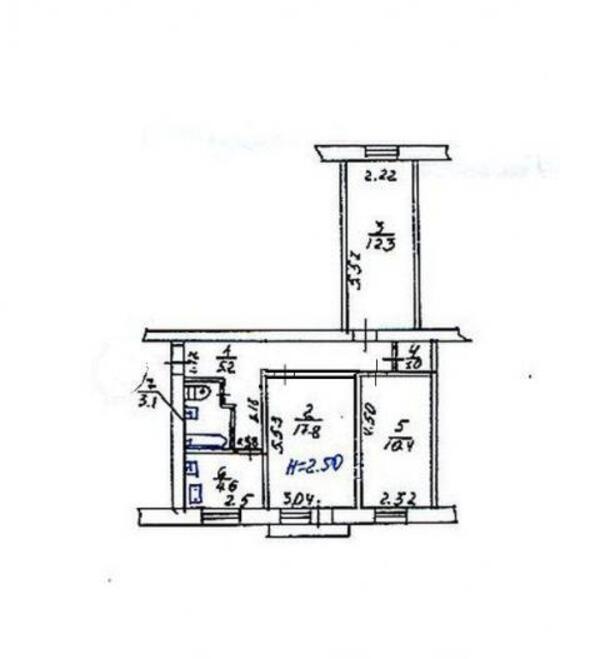 2 комнатная квартира, Харьков, НОВОЖАНОВО, Власенко (493660 1)
