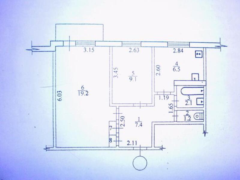 2 комнатная квартира, Харьков, Салтовка, Гвардейцев Широнинцев (493724 1)