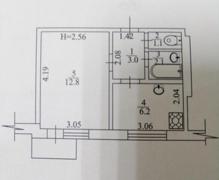 1 комнатная квартира, Харьков, Павлово Поле, 23 Августа (Папанина) (493946 1)