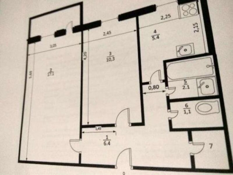 2 комнатная квартира, Харьков, Салтовка, Светлая (Воровского, Советская, Постышева, ленина. 50 лет Октября) (494026 1)